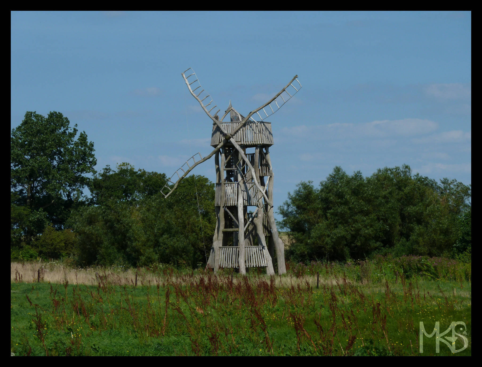 Old windmill in Texel
