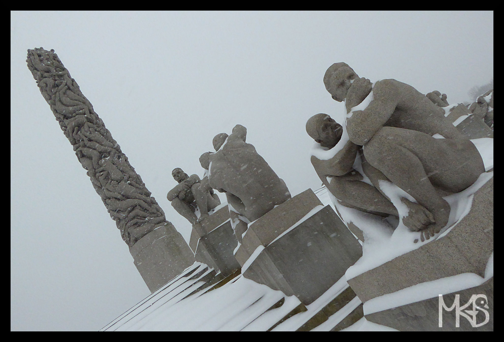 The monolith, Frogner Park, Oslo, Norway