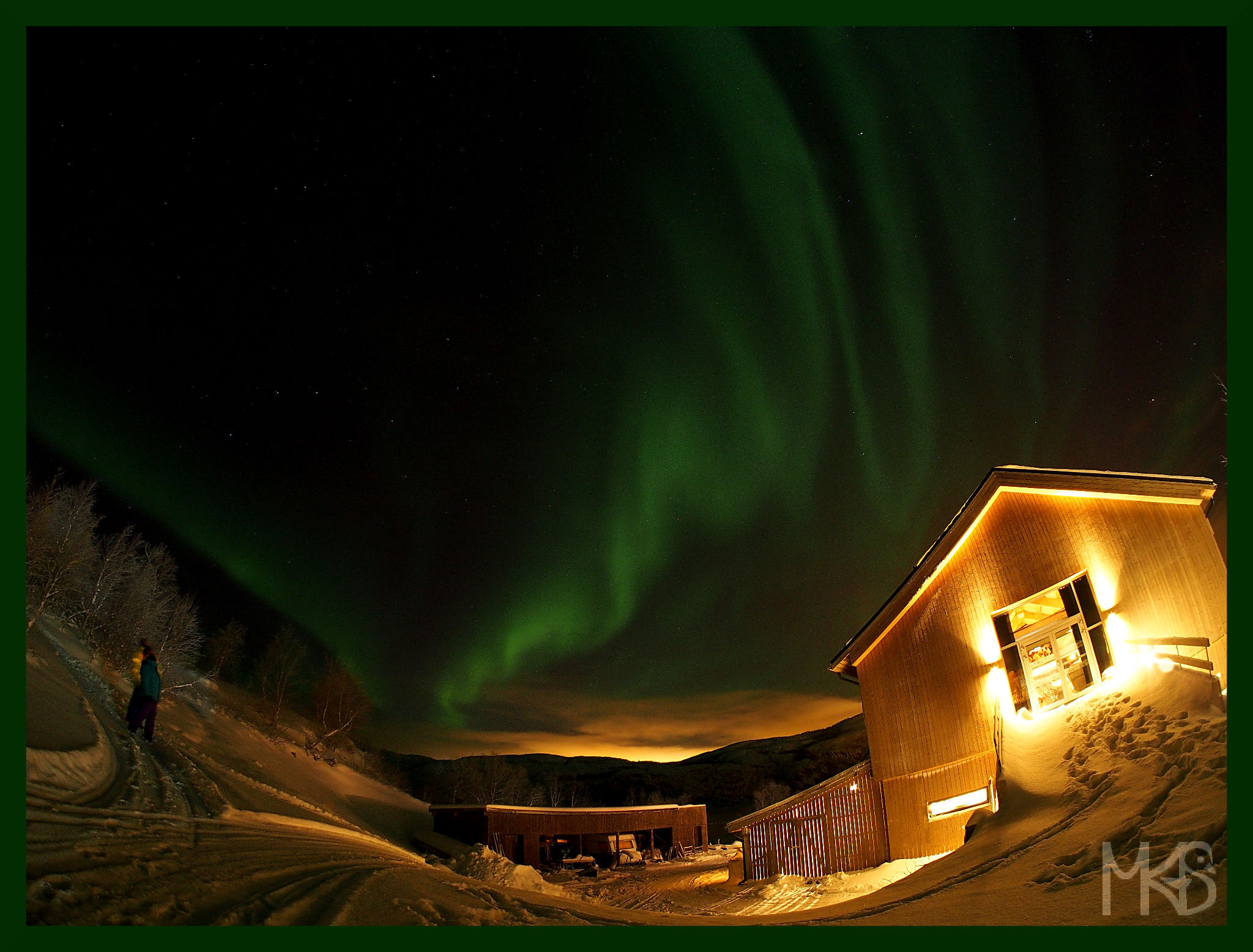 Northern lights, Snow Hotel, Kirkenes, Norway