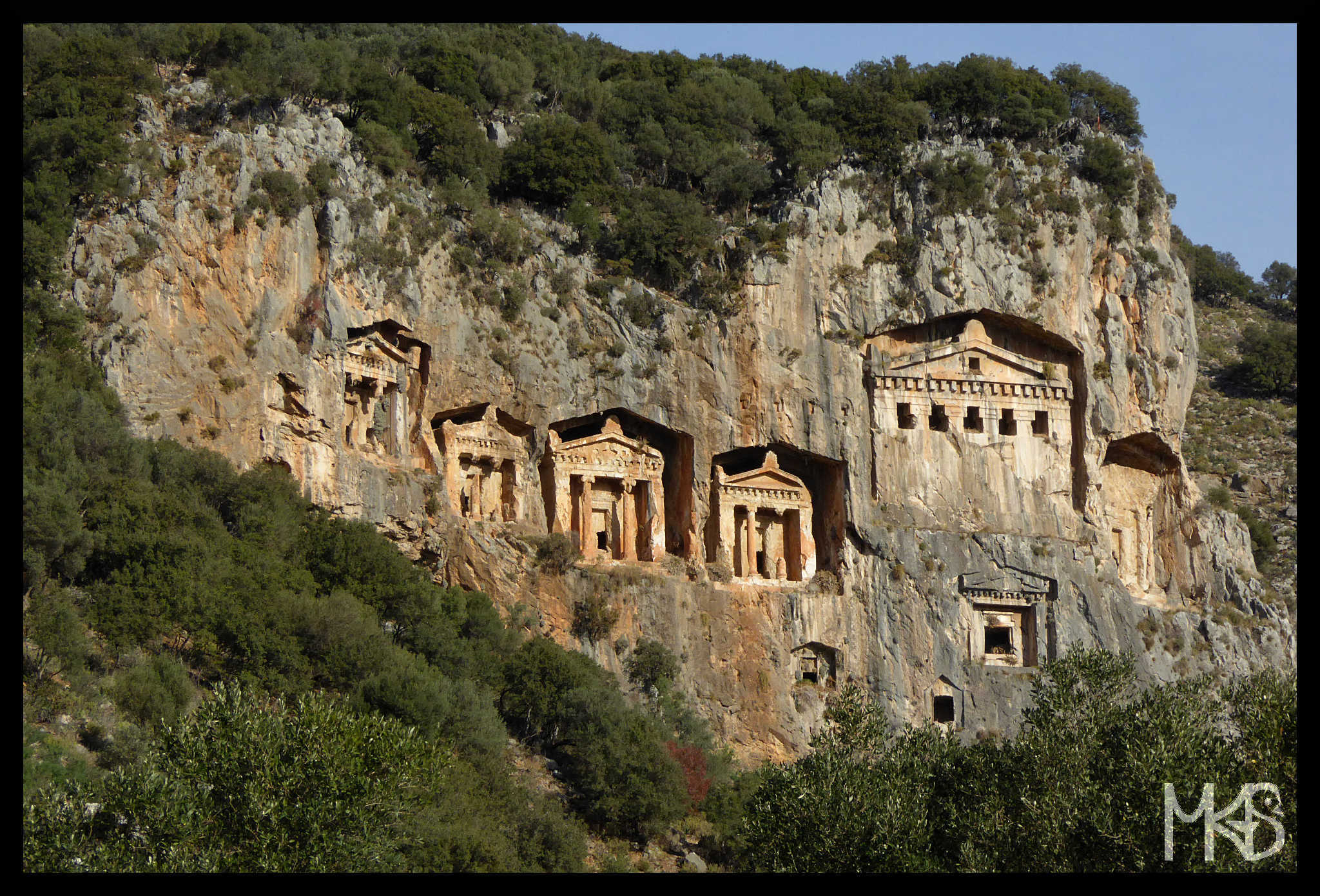 Tombs in Kaunos, Turkey