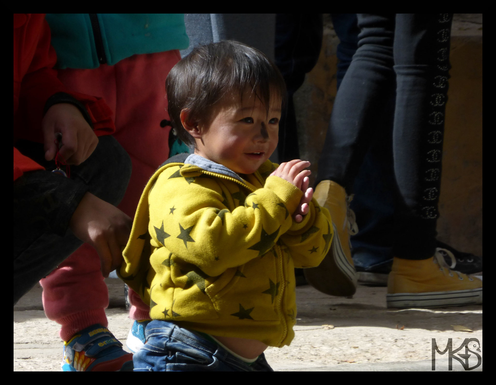 Little Boy with black nose, Sera Monastery, Lhasa