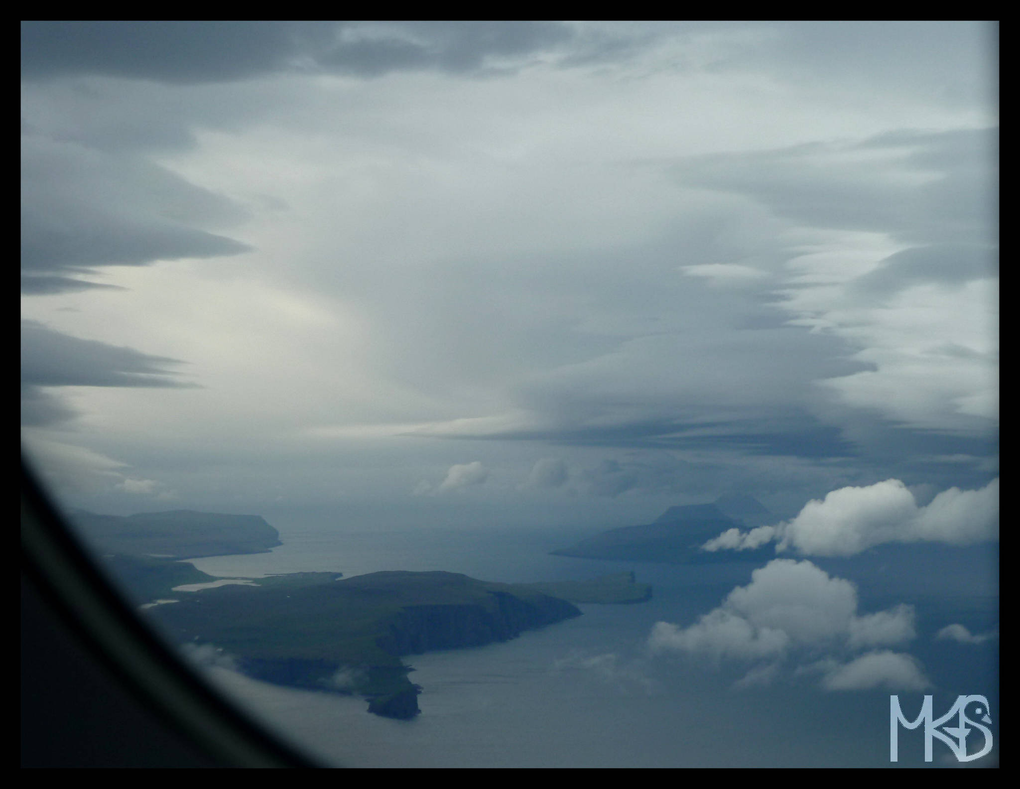 Faroe Islands from the airplane