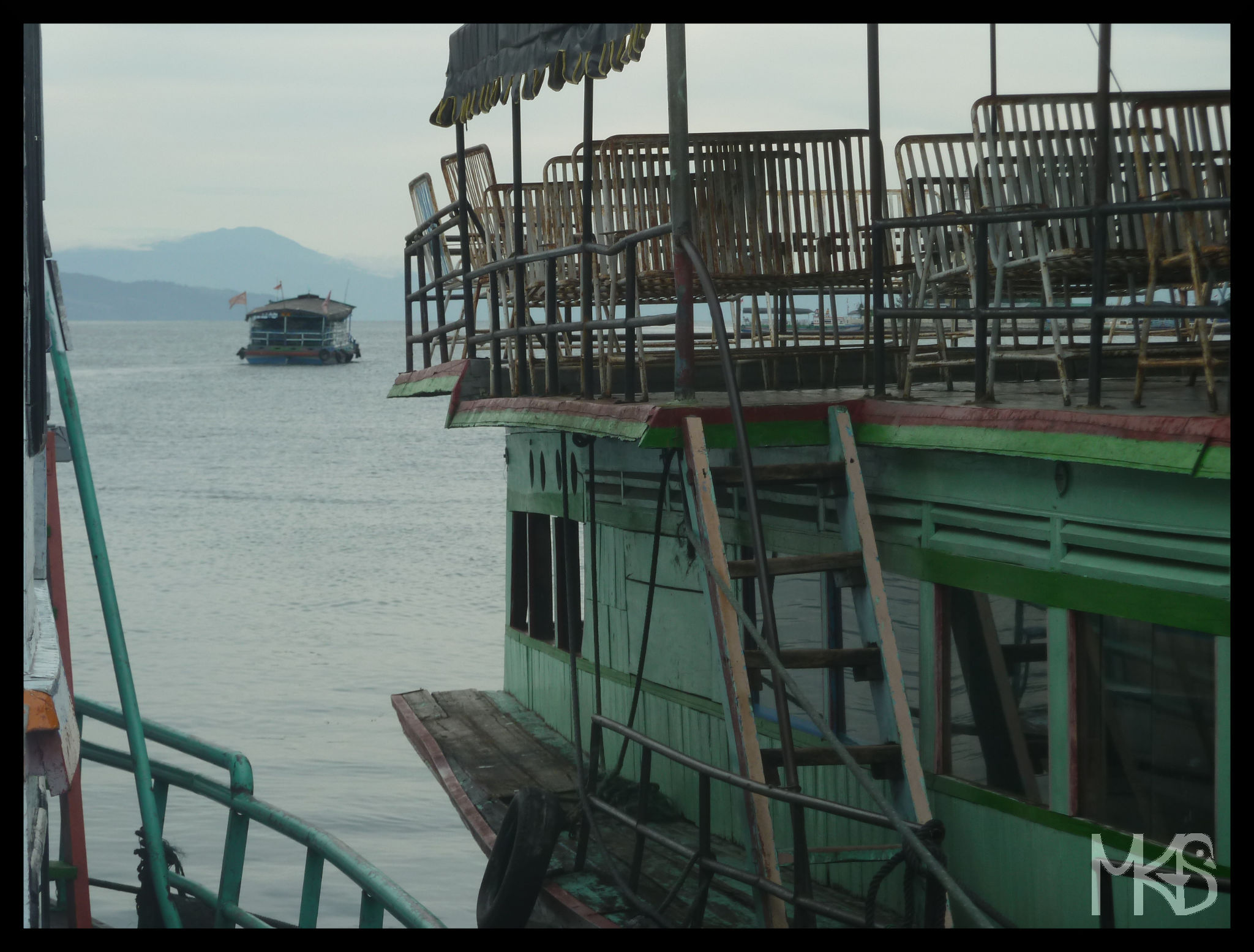 Ferry on Lake Toba